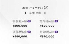 高合汽车发布1000公里电池包升能服务及HiPhi X四车型开启预订